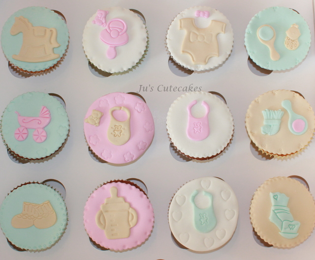Cup Cakes Baby Shower pour Sylvie!!!